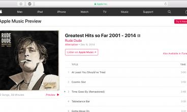 Rude Dude Greatest Hits Album itunes